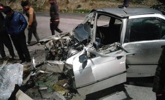 خمس إصابات في حادث تصادم في جرش