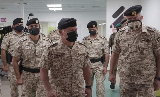 شاهد :  الملك عبد الله الثاني يفتتح المستشفى الميداني الاول في الزرقاء