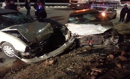وفاة زوجين واصابة اربعة من اطفالهم اثر حادث تصادم في معان