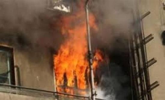 7 إصابات بحريق في حي النزال