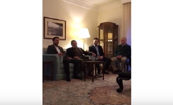 بالفيديو : الأمير حسين يلتقي شخصيات شركسية