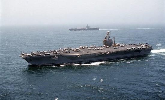 """حاملة الطائرات """"أيزنهاور"""" تبدأ عمليات ضد داعش من المتوسط"""