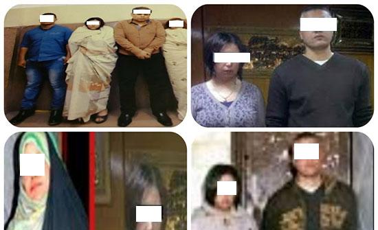 ضبط 5 متهمين متلبسين بممارسة الرذيلة  وتبادل الزوجات في مصر