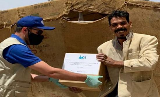 توزيع 3000 طرد مستلزمات صحية للوقاية من كورونا بالأزرق