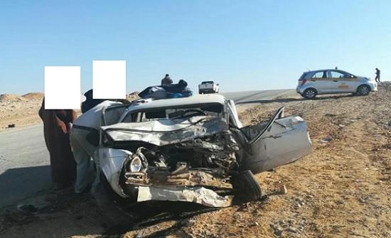 6 إصابات اثر حادث تصادم على الطريق الصحراوي