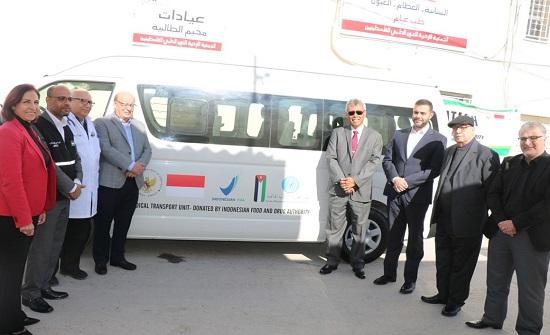 وكالة الغذاء والدواء الاندونيسية تتبرع بباص للعون الطبي الفلسطيني