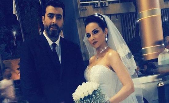 بالصور- صفاء سلطان بفستان الزفاف إلى جانب باسم ياخور