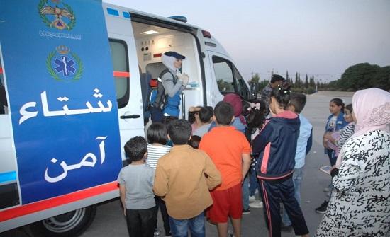 صور : الدفاع المدني يُنظم مبادرة (شتاء آمن) في إربد