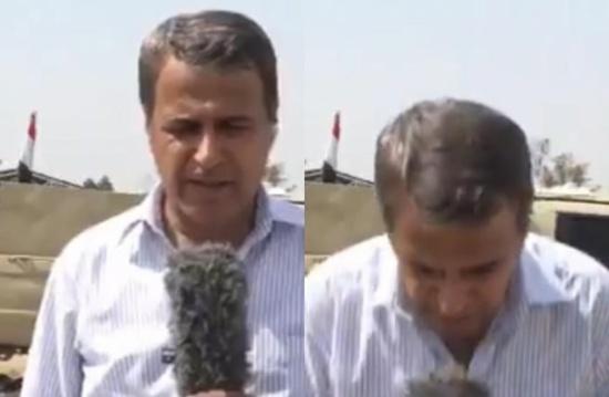إغماءة تصيب مراسل الجزيرة ببغداد على الهواء (شاهد)