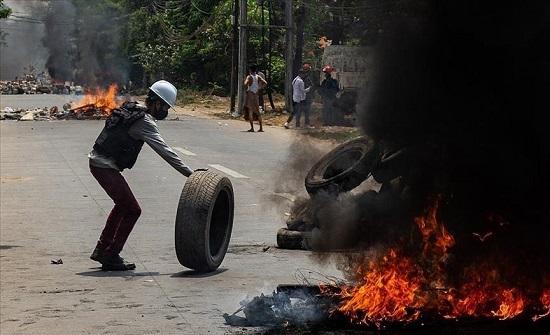 ميانمار.. ارتفاع قتلى المظاهرات ضد الانقلاب إلى 581