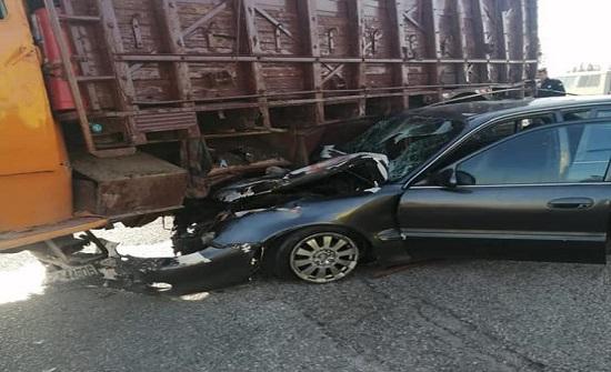 صور : وفاة جراء حادث تصادم في اربد
