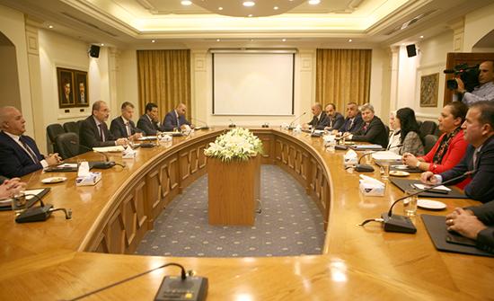 وزير الخارجية يستقبل لجنة الصداقة البرلمانية الاردنية التركية