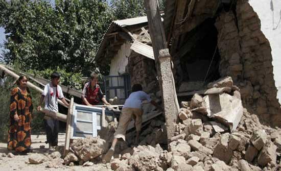 مصرع 5 أشخاص جراء زلزال ضرب شرقي طاجيكستان .. بالفيديو