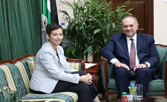 وزير العدل يبحث مع سفير الاتحاد الأوروبي الدعم المقدم لقطاع العدل