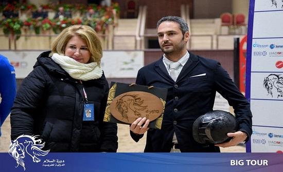 بشارات يواصل تألقة في بطولة السلام الدولية للفروسية في دمشق