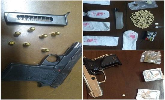بالصور: ضبط اسلحة نارية ومواد مخدرة بحوزة ٢٥ شخصا