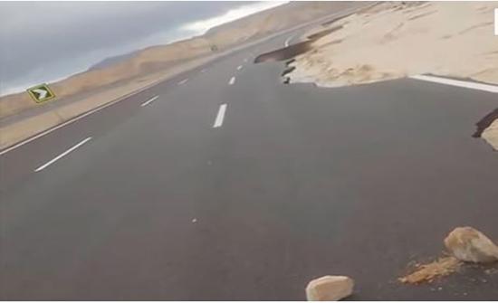 عاصفة التنين تدمر جزءا من طريق شرم الشيخ القاهرة المدينة نيوز