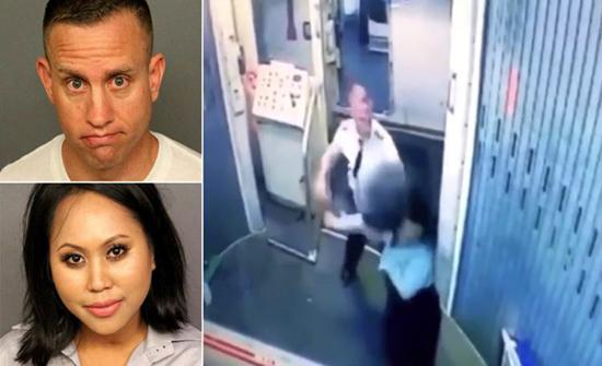 فيديو : طرد طيّار أمريكي ومساعدته من العمل بسبب مشاجرة بينهما