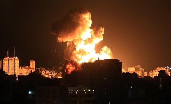 الاحتلال يشن سلسلة غارات عنيفة غير مسبوقة شمالي قطاع غزة