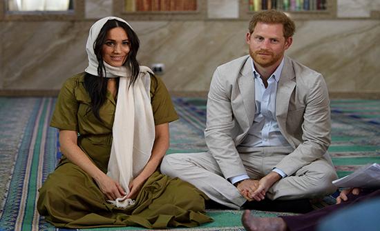 الأمير هاري وزوجته ميغان يزوران أول وأقدم مسجد في جنوب أفريقيا