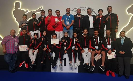 11 ميدالية حصيلة منتخب الكاراتيه في بطولة الشارقة الدولية