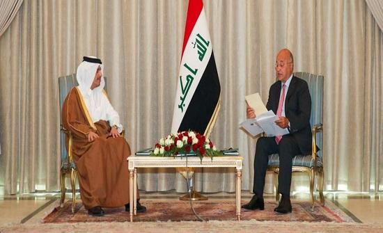 وزير خارجية قطر يسلّم رسالة أميرية لبغداد ويبحث ملفات هامة
