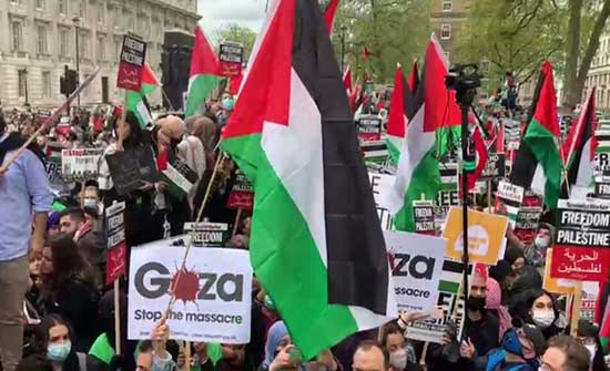مظاهرات في لندن ومانشستير تضامنا مع الشعب الفلسطيني