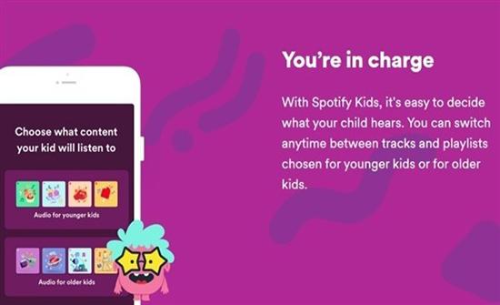 سبوتيفاي تطلق التطبيق Kids