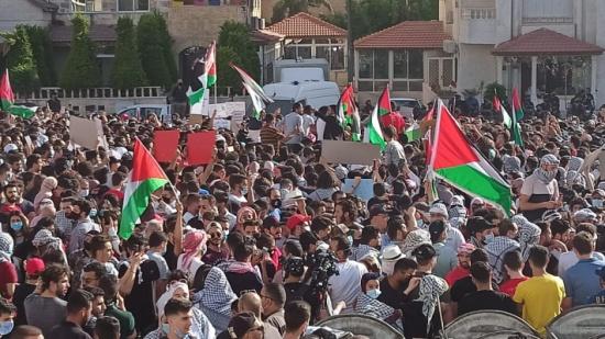 وقفة تضامنية بمحيط السفارة الاسرائيلية نصرة للشعب الفلسطيني