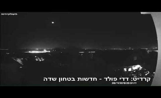 """بالفيديو : إطلاق قذيفتين على مستوطنات """"غلاف غزة"""""""