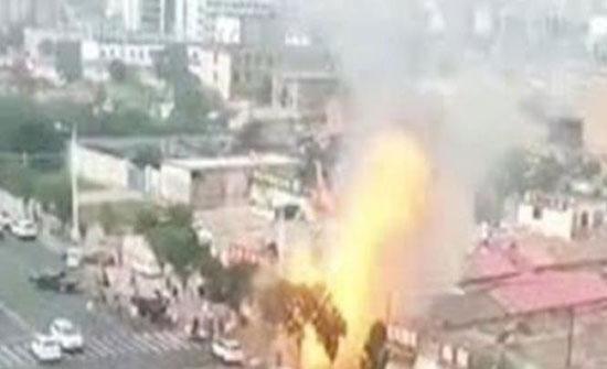 فيديو : لقطات مخيفة لانفجار غاز في مطعم في الصين