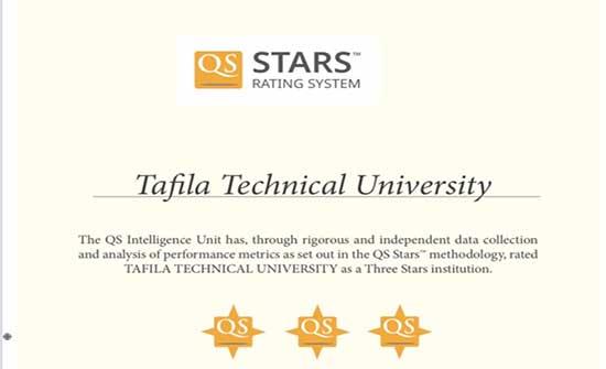 جامعة الطفيلة التقنية تقطف ثلاثة نجوم في تقييم QS STARS
