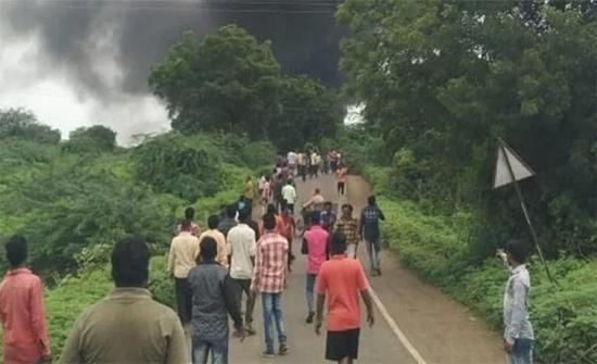 بالفيديو: انفجار مصنع كيماويات بالهند يوقع أكثر من 70 قتيلا وجريحا