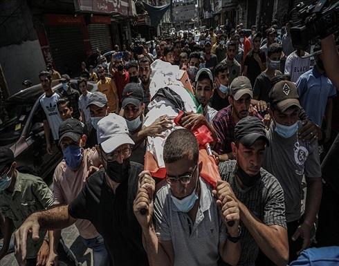 غزة.. تشييع جثمان شاب استشهد برصاص الجيش الإسرائيلي