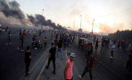 مقتل 8 محتجين وإصابة 15 آخرين في مواجهات الأحد مع قوات الأمن العراقية شرقي بغداد