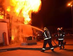 المفرق: حريق بمستودع بلاستيك بمنطقة بلعما