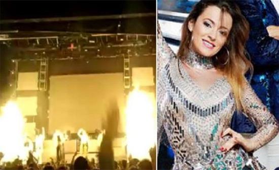 شاهد: فيديو مروع للحظة وفاة مغنية بوب أسبانية على خشبة المسرح وسط صرخات الجمهور