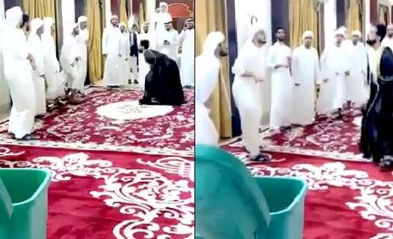 بالفيديو: مدعوون يلعبون الكرة بمهارة في حفل زفاف بالخليج