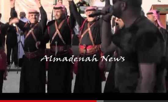 بالفيديو :  المدرجات تشتعل احتفالا بعيد الجلوس الملكي ( فقرة سعد ايو تاية )