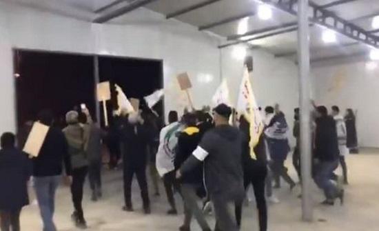 شاهد.. ميليشيا الحشد تقتحم المباني الخارجية لمطار بغداد