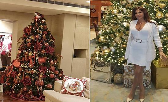 شاهد : اليسا تستعد لحفل عيد الميلاد بفستان ابيض جريء