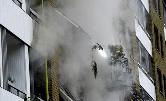 السويد: 25 اصابة بانفجار في مبنى سكني