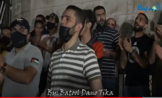 بالفيديو : مسيرة في البقعة نصرة للقدس والمسجد الاقصى