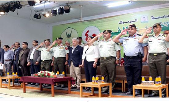 اليرموك تحتفل بالأعياد الوطنية