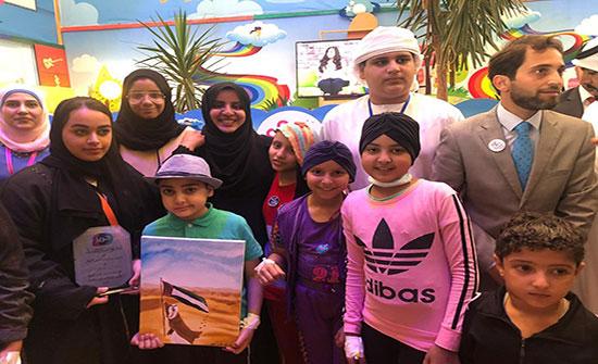 المجلس الاعلى للامومة والطفولة يزور المخيم الاماراتي للاجئين في الاردن وينفذ عدداً من الورش التدريبية لاطفال المخيم
