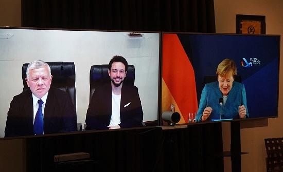 الملك يتلقى اتصالاً من المستشارة الألمانية