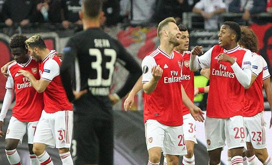 الدوري الأوروبي: فوز أرسنال وإشبيلية.. وخسارة لاتسيو أمام كلوج