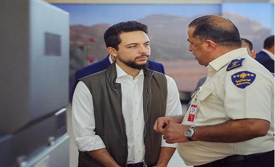 ولي العهد  يزور مطار الملك الحسين في العقبة