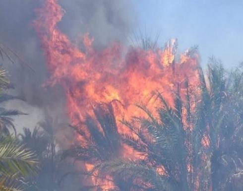 إجلاء 3 آلاف مدني إثر حريق هائل جنوبي العراق