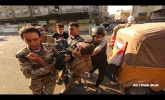بغداد.. مقتل 5 متظاهرين وسقوط جرحى في اشتباكات